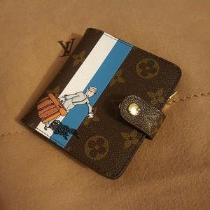 Limited Edition Blue Monogram Groom Compact Zippy